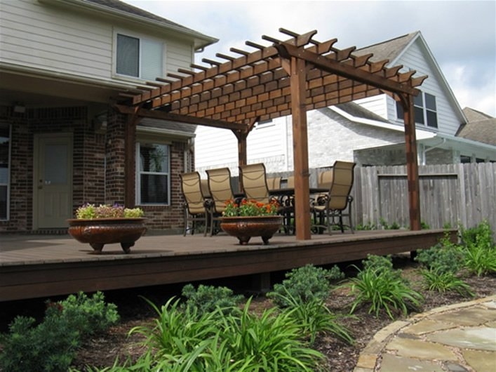 Wooden Garden Pergola By Clay S. of League City, TX.