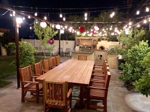 San Francisco Redwood Patio Table - By Rick C., Glendora, CA.